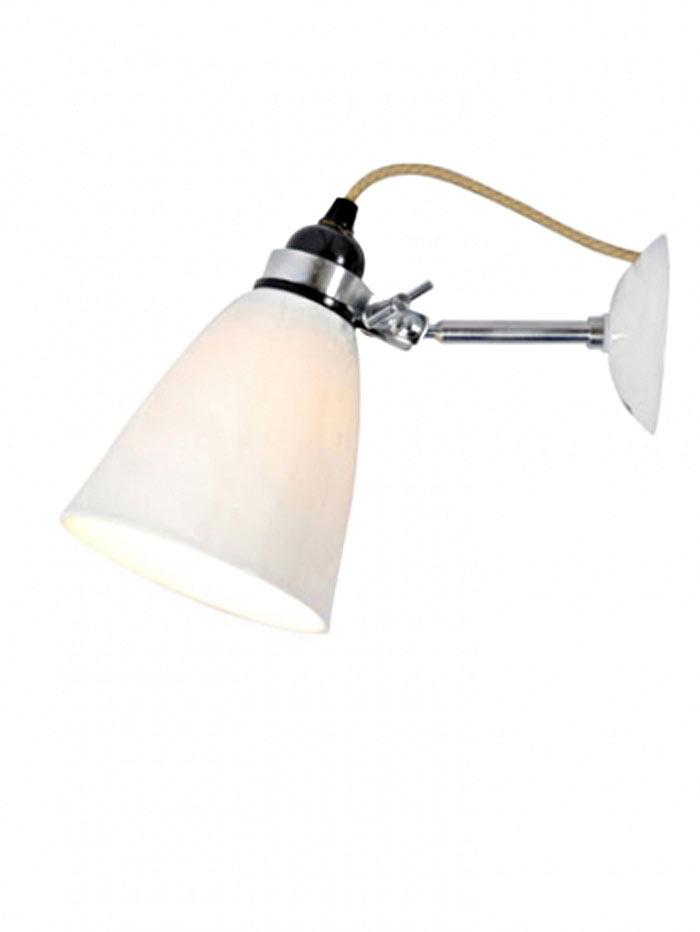 Hector applique verrerie moyenne blanche par original btc r f 11030015 - Applique porcelaine blanche ...