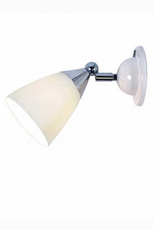 Mann applique ogive abat-jour en porcelaine blanche. Original BTC.