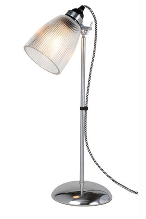 Primo lampe bureau en verre cannelé. Original BTC.