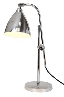 Task lampe de bureau chrome. Original BTC.
