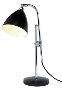 Task lampe de bureau noire. Original BTC.
