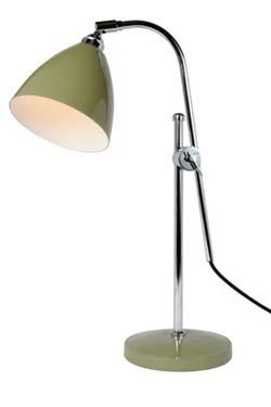 Task lampe de bureau olive. Original BTC.