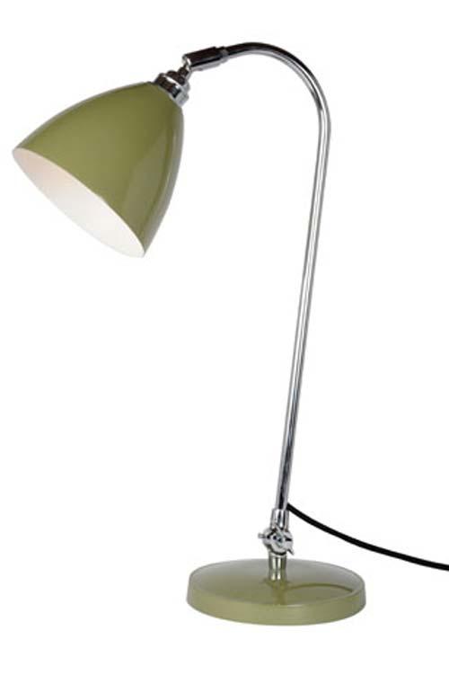 Task Solo Lampe de bureau en métal vert olive. Original BTC.
