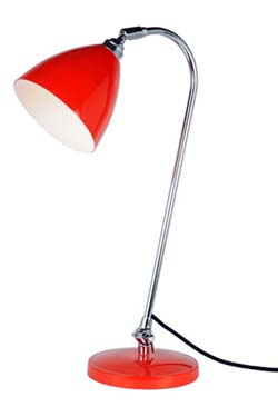 Task Solo lampe de bureau rouge. Original BTC.