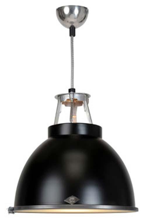 Laqué Avec Design Industriel De En Métal Grande Suspension Verre Protection Noire hrtxdBsQC