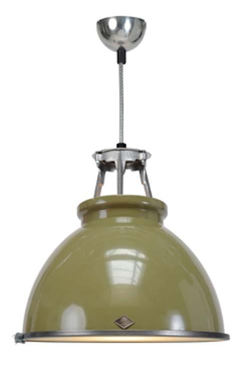 Titan suspension olive taille GM avec verre. Original BTC.