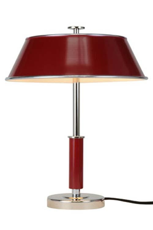 Victor lampe de bureau rouge. Original BTC.