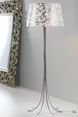 Camber Cromado baroque lampadaire. Paulo Coelho.