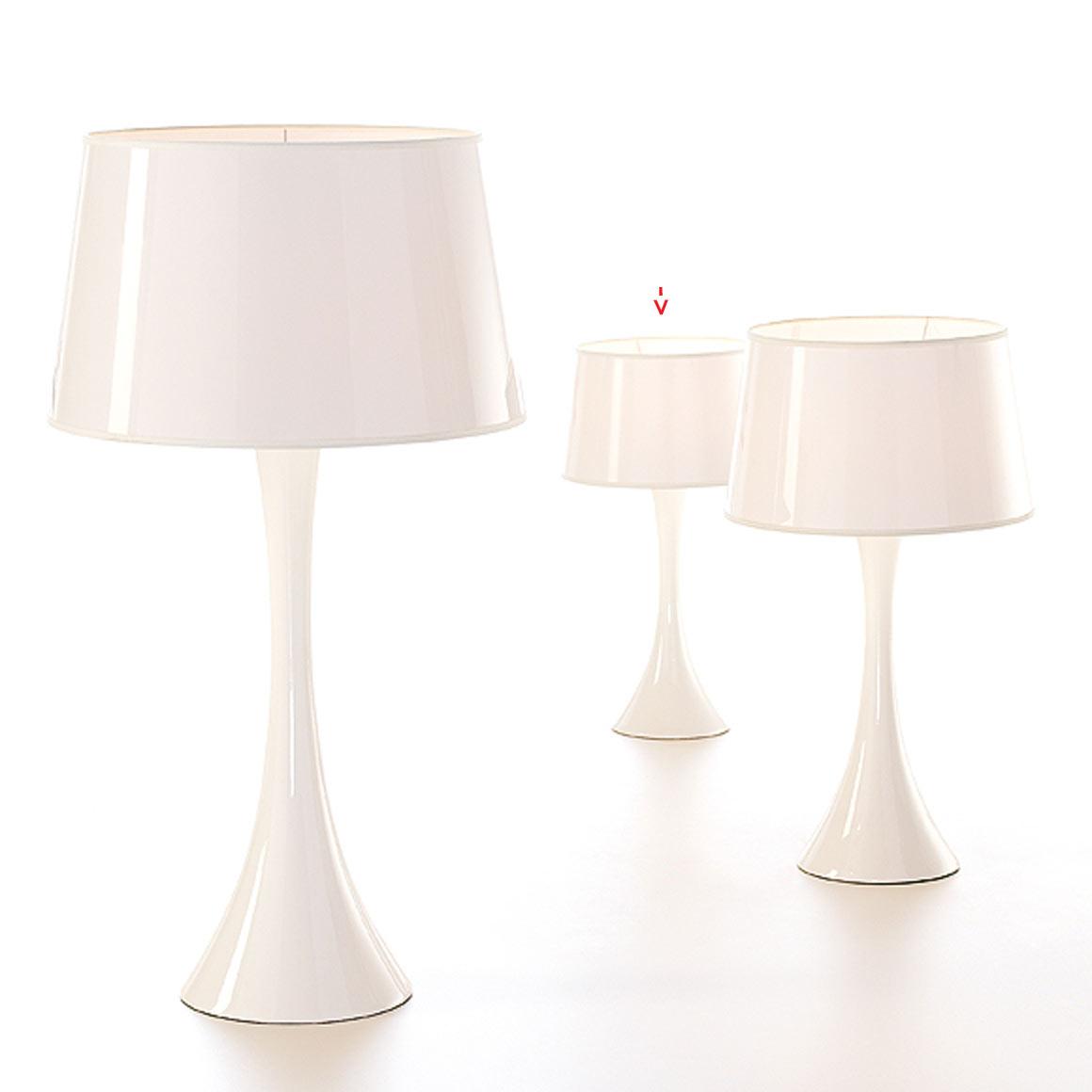 Conic Gloss Branco lampe PM. Paulo Coelho.