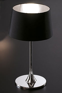 Delta Cromado noir lampe MM. Paulo Coelho.
