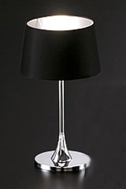 Delta Cromado noir lampe PM. Paulo Coelho.