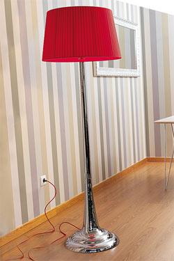 Fluid Cromado lampadaire. Paulo Coelho.