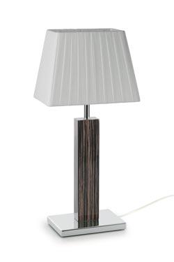 Lampe Smooth II petit modèle en bois d'ébène. Paulo Coelho.