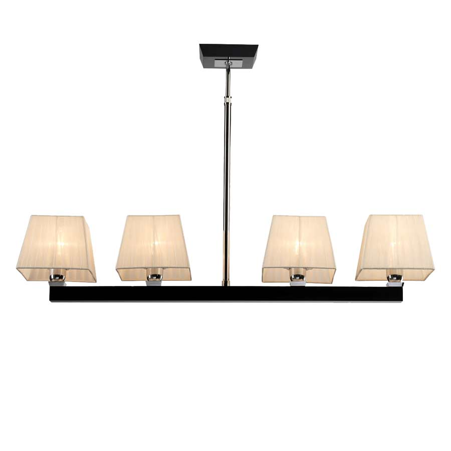 Prisma gloss suspension 4 abat jour en ligne paulo for Luminaire abat jour suspension