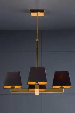 Prisma Ouro suspension 4 abat-jour en croix. Paulo Coelho.