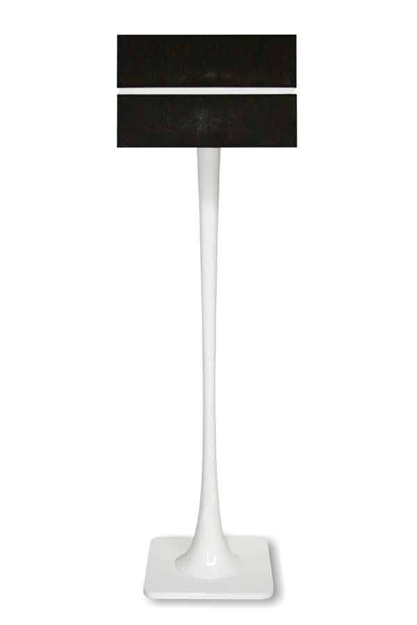 Quadratic Gloss Branco lampadaire. Paulo Coelho.