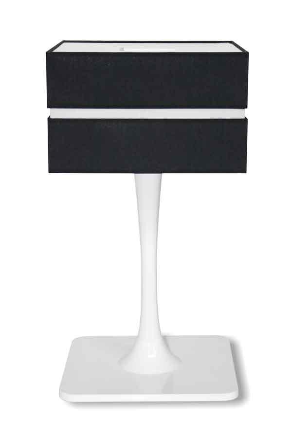 Quadratic Gloss Branco lampe PM. Paulo Coelho.