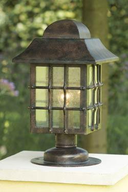 lampe lanterne grille pour jardin en fer forg patin fabriqu par les forges robers en. Black Bedroom Furniture Sets. Home Design Ideas