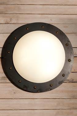 Plafonnier ou applique en cercle fer forgé 42cm. Robers.