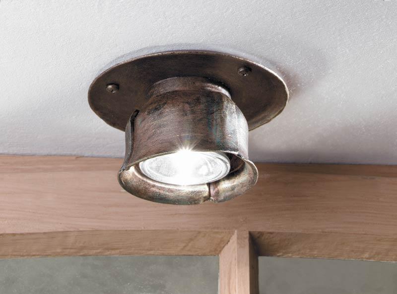 spot halog ne plafonnier en fer forg fabriqu par les forges robers en allemagne r f 12090059. Black Bedroom Furniture Sets. Home Design Ideas