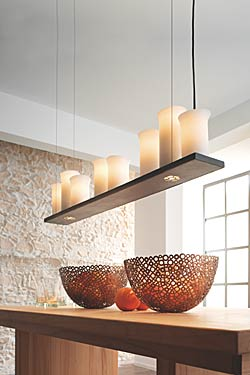suspension en fer forg barre et c bles huit lumi res fabriqu par les forges robers en. Black Bedroom Furniture Sets. Home Design Ideas