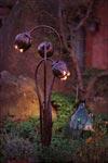 Triple Flower-lampe en  fer forgé. Robers.