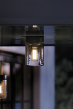 Tesla Outdoor Ceiling Light In Black Aluminum And Clear Glass Royal Botania Ref 17020002