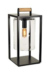 Dome Small black outdoor lamp and clear glass. Royal Botania.