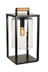 Outdoor lantern Dome Small black aluminum and clear glass. Royal Botania.