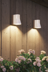 Beacon Wall white porcelain outdoor wall sconce. Royal Botania.