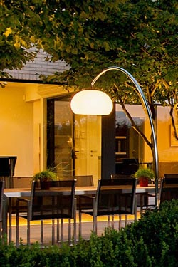 60t Outdoor Large Floor Lamp In Stainless Steel Royal