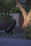 Projecteur Moso Ground noir, faisceau réglable. Royal Botania.