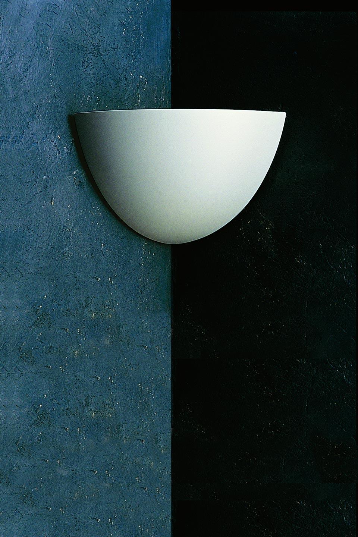 Applique Angle 1427 en plâtre naturel pour coin de pièce. Sedap.