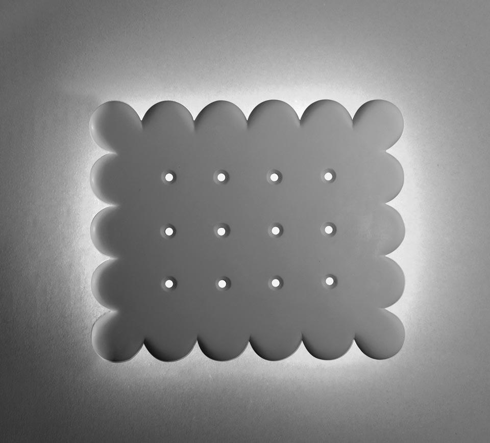 applique biscuit rectangle en pl tre naturel blanc sedap. Black Bedroom Furniture Sets. Home Design Ideas