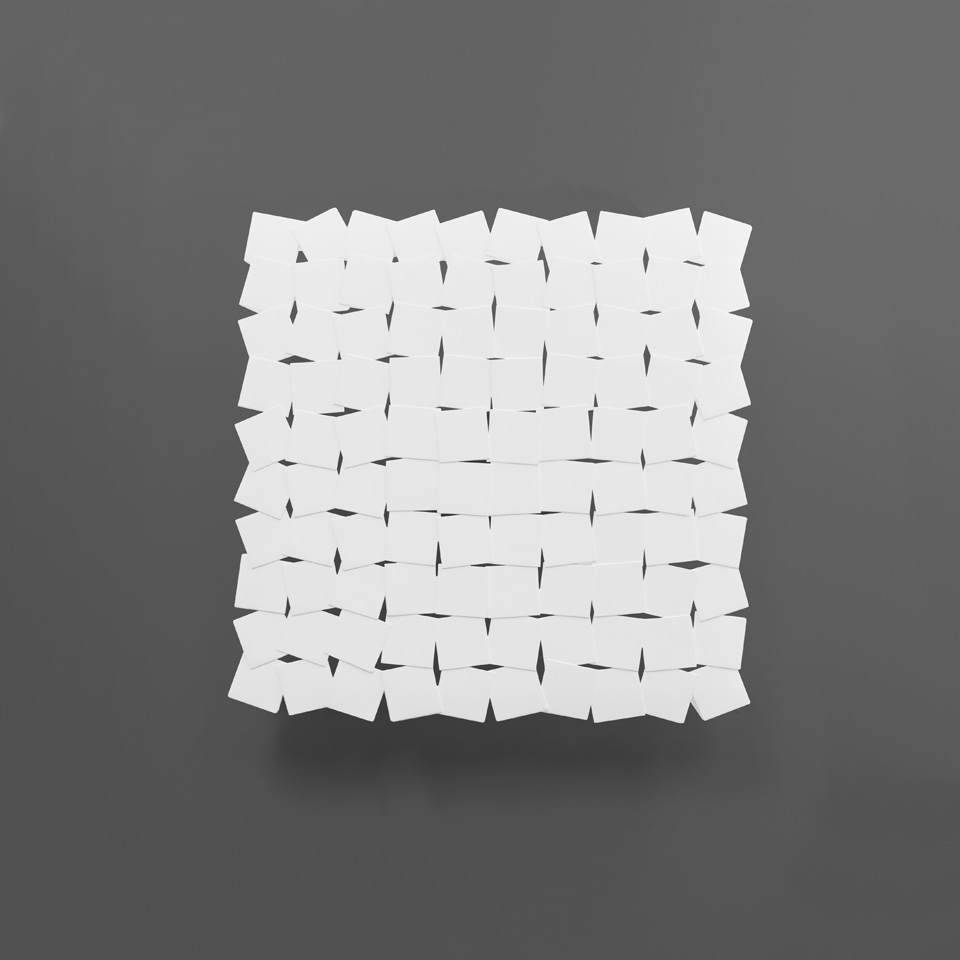 Applique carrée en plâtre naturel Kasimir. Sedap.