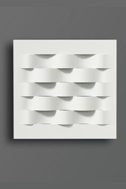 Applique carrée en vagues ou bandes tissées Mart-1 3052. Sedap.