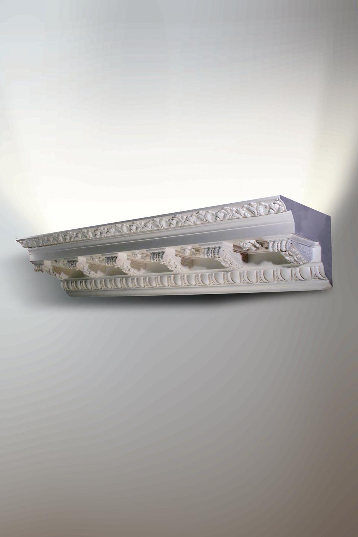 Applique en corniche classique lumineuse Corniche Vintage 3049 plâtre naturel blanc. Sedap.