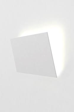 Applique Format A3 blanche en plâtre naturel. Sedap.