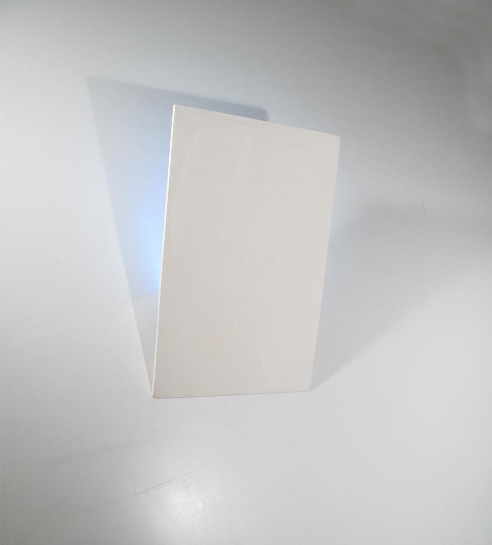 Applique Format A4 vertical en plâtre naturel. Sedap.