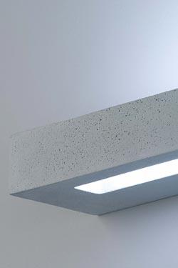 Applique rectangulaire gris béton Blok 3039 - 64cm. Sedap.