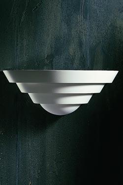 Applique vasque 1301 en plâtre naturel blanc en gradins. Sedap.