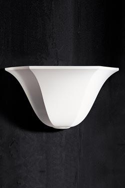 Applique vasque 1342 en plâtre naturel blanc. Sedap.