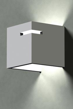 Dé 3057 applique en cube de plâtre naturel. Sedap.