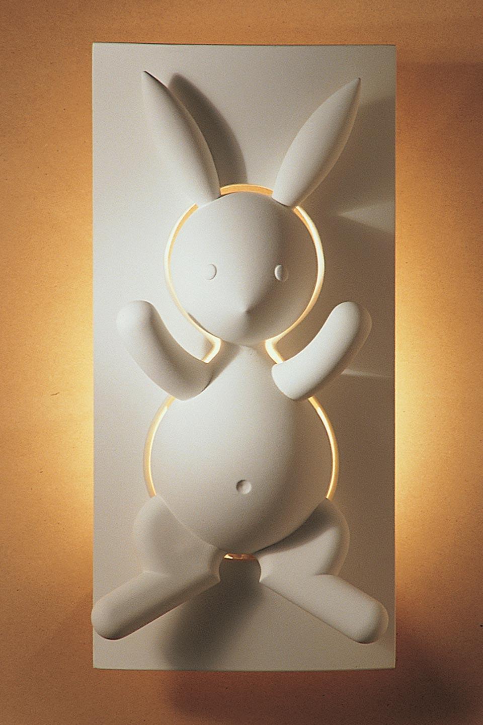 Lapin applique en plâtre naturel pour chambre d\'enfant | sedap ...