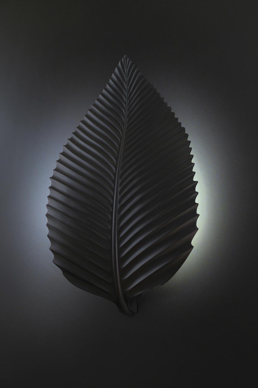 charme 1380 applique en pl tre naturel blanc feuille de. Black Bedroom Furniture Sets. Home Design Ideas