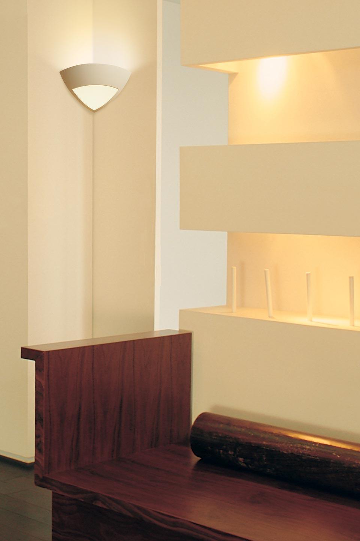 applique angle 1817 en pl tre et verre d poli sedap. Black Bedroom Furniture Sets. Home Design Ideas