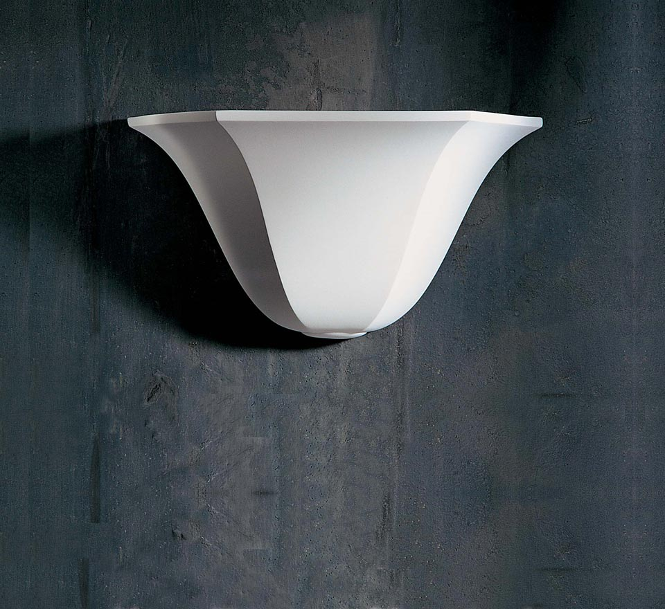 applique vasque 1342 en pl tre naturel blanc sedap. Black Bedroom Furniture Sets. Home Design Ideas