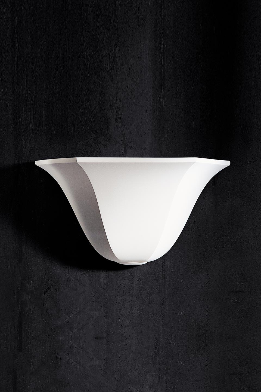 applique vasque 1342 en pl tre naturel blanc r f 13100215. Black Bedroom Furniture Sets. Home Design Ideas