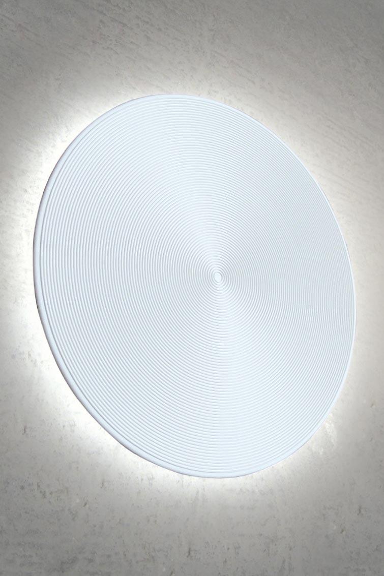 applique ronde spirale venus 35 en pl tre naturel blanc. Black Bedroom Furniture Sets. Home Design Ideas