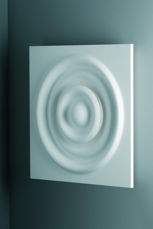applique carr e en vagues concentriques verner 3028 pl tre. Black Bedroom Furniture Sets. Home Design Ideas